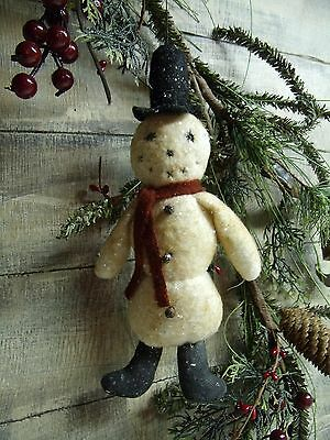 Primitive Pattern~Vintage Style Frosty Ornie/christmas/winter/tree/snowman/pt123