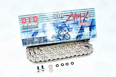 DID 530x160 Links ZVM-X Super Street Series Sealed X-ring Gold Chain