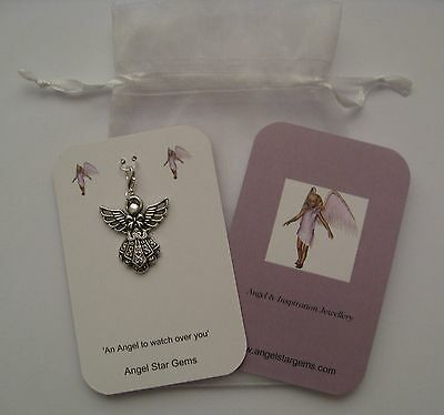 1 Guardian Angel' An Angel to Watch Over You' Good Luck Fertility Charm TTC gift