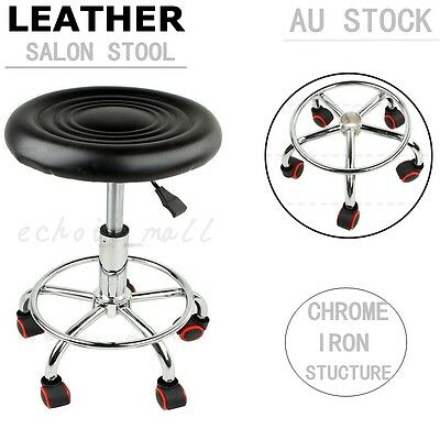 Black Hydraulic Salon Stool Chair Hairdressing Beauty Barber Massage Equipment