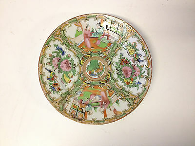 Antique Chinese Qing Dynasty / Republic Famille Rose Medallion Porcelain Plate