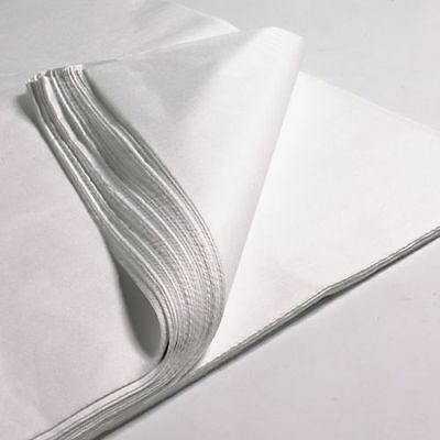100 sheets  x large 20 x 30'' WHITE ACID FREE TISSUE WRAPPING PAPER 500 X 750 mm