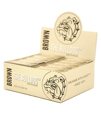 5 Boxen (250x) The Bulldog Brown Filtertips slim ungebleicht perforiert