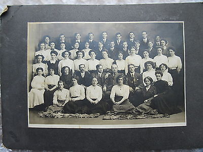 Antique Cabinet Photo School Class Group Pictou Academy Nova Scotia