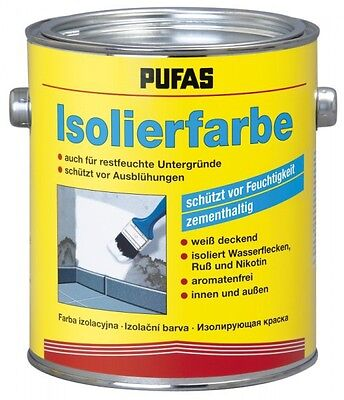 (15,88€/1l) PUFAS Isolierfarbe 2 Liter