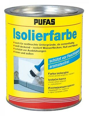 (23,41€/1l) PUFAS Isolierfarbe 0,75 Liter