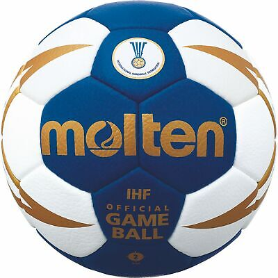 Molten Handball IHF Wettspielball Blau H2X5000-BW-X Gr. 2 Official Game Ball