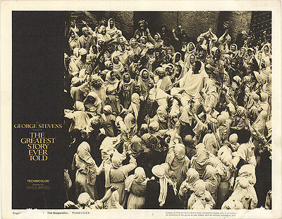 The Greatest Story Ever Told 1965 Original Movie Poster Biography Drama History