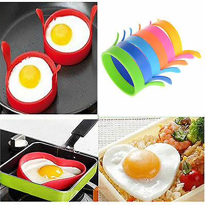 Mold Silicone Pancake Fry Egg Anneau Frying Fried Egg ronde Cuisine Gadget outil