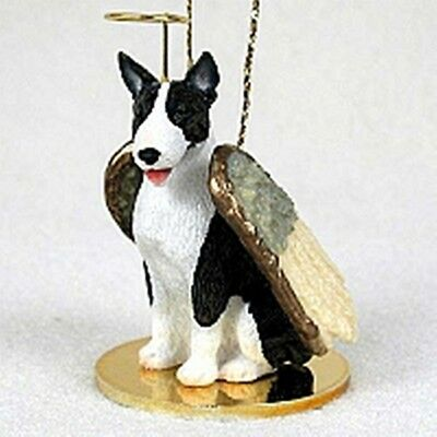 Bull Terrier Brindle NEW Angel Dog Holiday Ornament Tiny Ones Statue Figurine