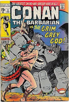 Conan the Barbarian #3 Marvel Comics 1971 Barry Smith (Low distribution) VF/VFNM