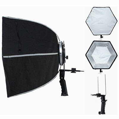 """24"""" Hexagonal Umbrella Flash Softbox With Hand Grid for sophisticated light"""