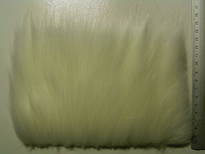 White Fox Long Pile Craft Fur, Fly Tying Material