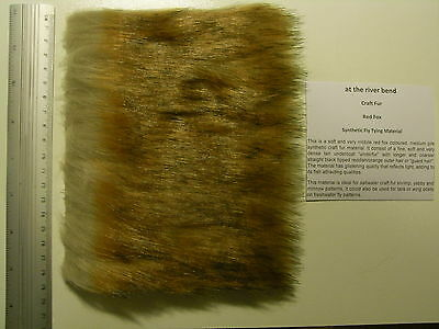 Red Fox Medium Pile Craft Fur, Fly Tying Material