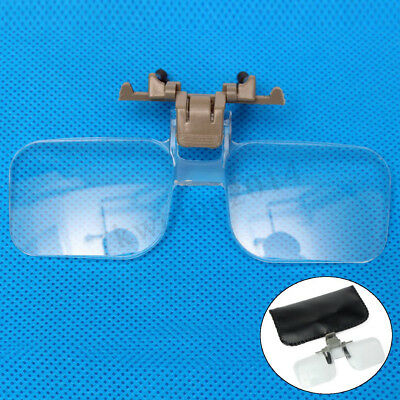 Loupe Eyeglass Lens Folding Magnifying Glasses Clip On Precise Magnifier Flip