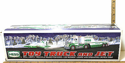 2010 Hess Toy Truck and Jet LED Lights Multi-Sound Launch Ramp New In Box Sweet!