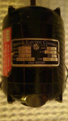 Vintage Bodine Electric Company AC Motor Type NSI-12 RPM 1725 .80 Amps 115 Volts