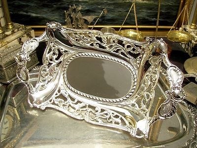 Silver Plated Fruit Bowl Ornate Centerpiece Vintage Antique Gift 13""