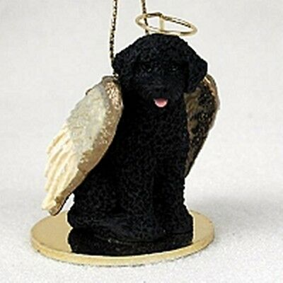 Portuguese Water Dog NEW Angel Dog Holiday Ornament Tiny Ones Statue Figurine