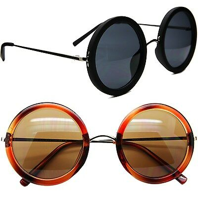 New Vintage Round Men Women Sunglasses Celebrity Circle Style Glasses Metal Arm