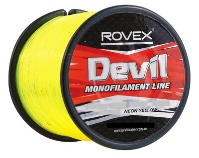 340m Spool of 40lb Rovex Devil Fishing Line - Neon Yellow Mono Fishing Line