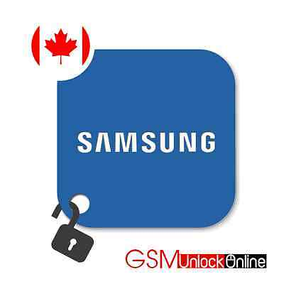 Unlock Code For Rogers Fido Bell Canada Samsung Galaxy Note 2 3 4 Edge Ace Prime