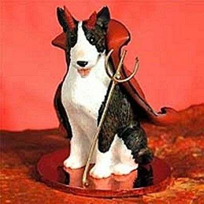 Bull Terrier Brindle Devil Dog Holiday Ornament Tiny Ones Statue Figurine NEW
