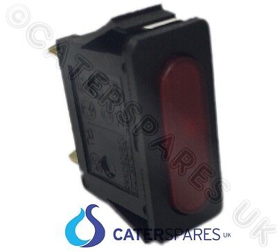 Red Neon Single Slim Switch Oblong 30X11Mm 2 Pin Terminal 220/240V Red Indicator