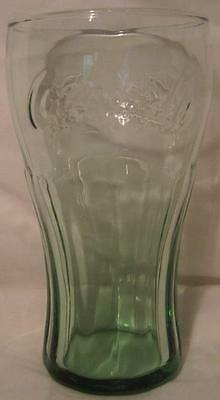 Coca-Cola Green Tint Colored Tumbler Drinking Contoured Coke Glass