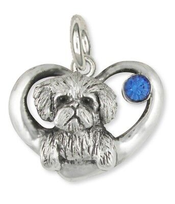 Maltese Birthstone Charm Jewelry Sterling Silver Handmade  ML16-SC