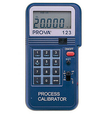 PROVA-123 Process Calibrator 4-20mA, 0-20mA, 0-24mA with 1 m A resolution