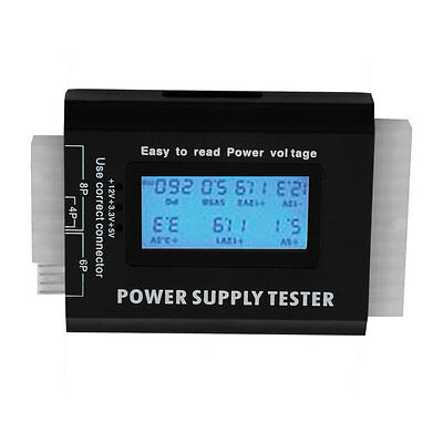 Digital LCD PC Computer PC Power Supply Tester 20/24 Pin SATA HDD Testers F0