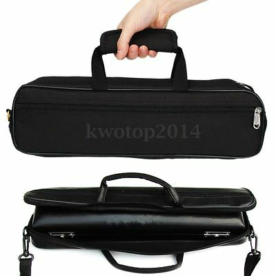 Durable Flute Carry Case Bag Cover with Padded Handle Shoulder Strap Side Pocket