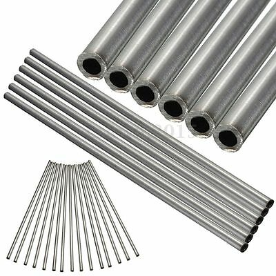 2Pcs 304 Seamless Stainless Steel Capillary Tube OD 6mm x 4mm ID Length 250mm