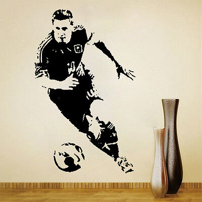 Soccer Player Characters Wall Stickers Decals Kid's Bedroom Decor Anti-water