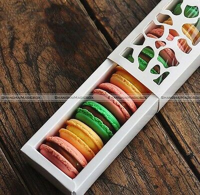 Long Hollow Macaron Cupcake Container Chocolate Packing Cake Box Cookie SM7