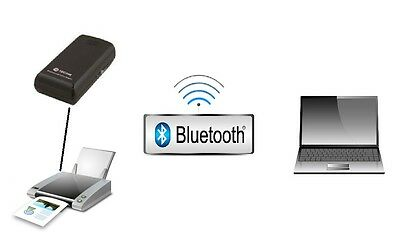 BLUETOOTH USB PRINTER ADAPTER Adattatore UNIVERSALE x STAMPANTE POTENTE Wireless