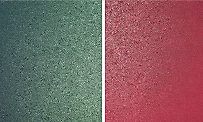 10 x A4 CHRISTMAS CARD 5 RED + 5 GREEN 290GSM PEARLESCENT SPARKLE DOUBLE SIDED