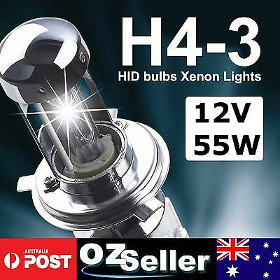 Pair 55W HID Xenon H4-3 Hi/Low Xenon Globe Replacement Bulbs 4300K 6000K 10000K