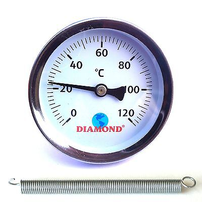 Home & Industrial CLIP ON PIPE THERMOMETER TEMPERATURE GAUGE DIAL Diamond
