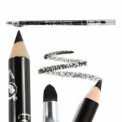 Black Eyeliner Pencil With Smudger & Sharpener Kohl Liner by Technic