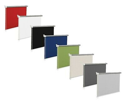 Blackout Window Roller Blinds, Black, White, Red, Blue, Grey,16 Sizes,150cm Drop