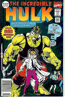Incredible Hulk #393 (1991, vf+ 8.5) special, 64 pages, metallic ink cover