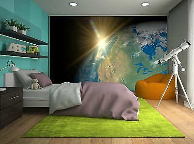 Earth and Sun Wall Mural Photo Wallpaper GIANT DECOR Paper Poster Free Paste