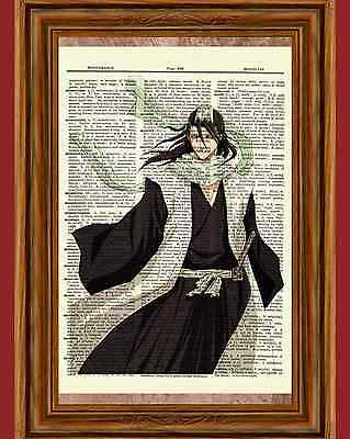 Kuchiki Byakuya Bleach Dictionary Art Print Poster Picture Soul Society Captian