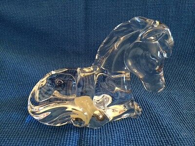 Princess House 24% Lead Crystal Pets Relax Pony Figurine
