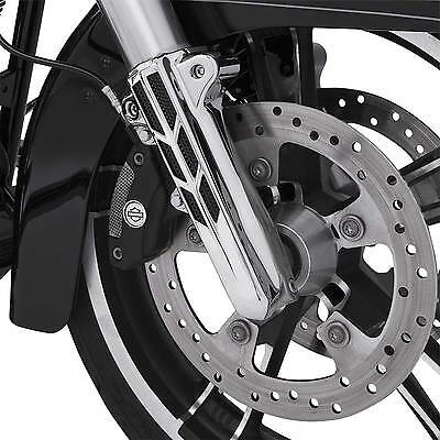 Ciro Chrome Forkini Lower Fork Leg Covers for 2014-2016 Harley Touring