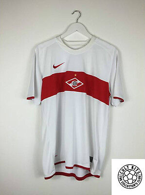 SPARTAK MOSCOW 09/10 Away Football Shirt (L) Soccer Jersey Nike