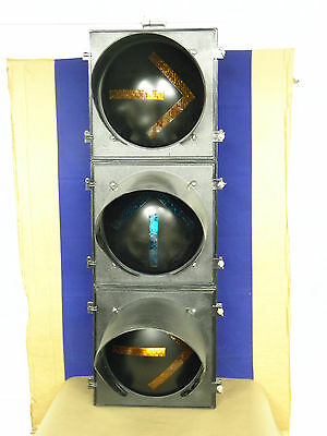 """New Old Stock 8"""" Traffic lights Green & Yellow Arrows sold per Section"""
