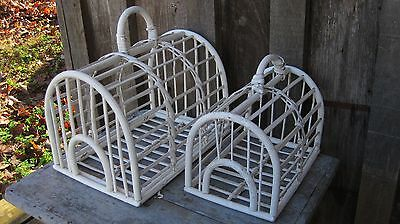 Vintage Distressed Rattan Decorative Bird Cages Home & Garden Planter Baskets